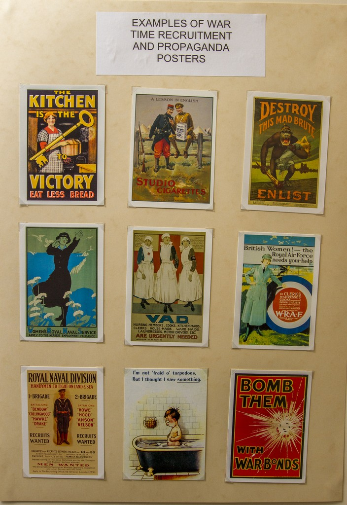 Propaganda and recruitment posters from World War I